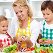 Salad time with the kids in the kitchen - healthy life education